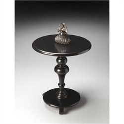 Butler Specialty Masterpiece Pedestal Table in Black Licorice