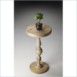 Butler Specialty Masterpiece Pedestal Accent Table in Urban Gray