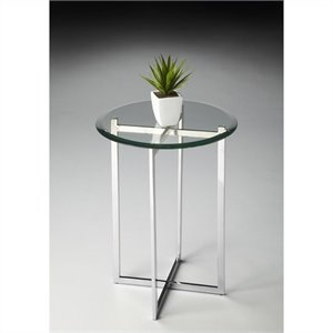 Butler Specialty Butler Loft  Accent Table with Stainless Steel Base