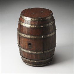 Butler Specialty Mountain Lodge Calumet Rustic Barrel Table