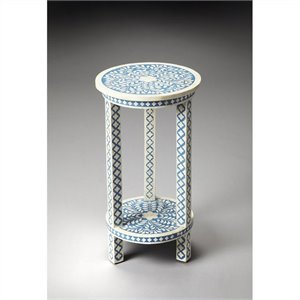 Butler Specialty Amanda Blue Bone Inlay Accent Table