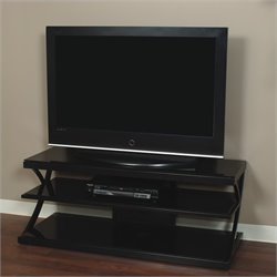 Tech-Craft NTR 60 Inch Wide Plasma/LCD TV Stand in Black Finish