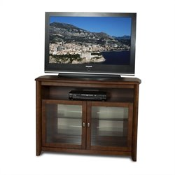 Tech-Craft Veneto Series 50 Inch Wide Hi-Boy TV Stand in Walnut Finish