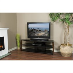 "Tech Craft 60"" Wide TV Stand in Black"