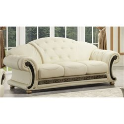 ESF Versace Leather Sofa in Beige
