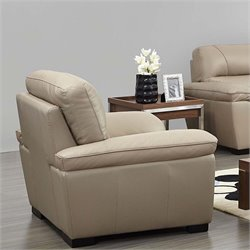 ESF Style Half Leather Chair in Beige