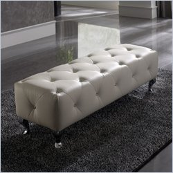 Nelly Upholstered Bench in White