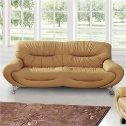 ESF Style Half Leather Sofa in Beige