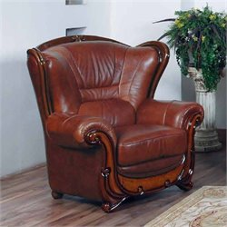 ESF Style Leather Club Chair in Brown