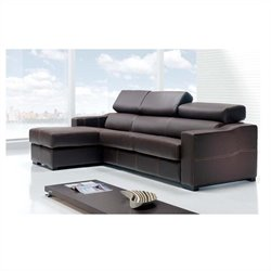 ESF Style Nectar Living Lucas Sectional in Brown