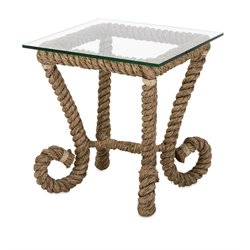IMAX Corporation Tranquil Jute Accent Table in Brown