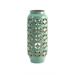 IMAX Corporation Creighton Cutout Ceramic Table Lamp in Green