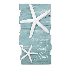 IMAX Corporation Beach House Starfish Wall Panel in Blue
