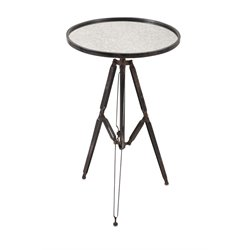 IMAX Corporation Maddox Mirrored Accent Table in Black