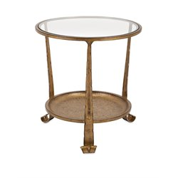 IMAX Corporation Natalia End Table in Gold