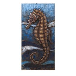 IMAX Corporation Seahorse Dimensional Wall Decor in Blue