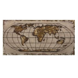 IMAX Corporation Globe Dimensional Wall Art in Brown