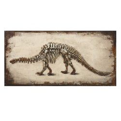 IMAX Corporation Dinosaur Dimensional Wall Art in Brown