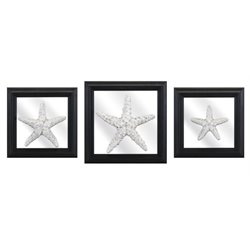 IMAX Corporation Jetty 3 Piece Starfish Wall Plaque Set in Black
