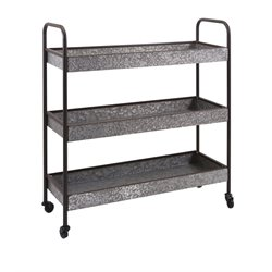 IMAX Corporation Homestead Galvanized Storage Rack in Brown
