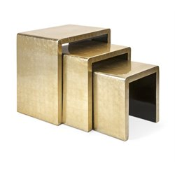 IMAX Corporation Elaine 3 Piece Nesting Table Set in Gold