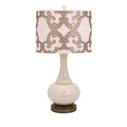 IMAX Corporation Hulsey Table Lamp in Beige