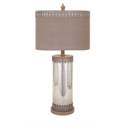 IMAX Corporation Amy Mercury Glass Table Lamp in Silver