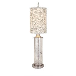 IMAX Corporation Carey Table Lamp in Silver