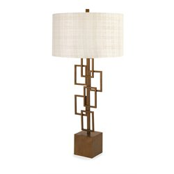 IMAX Corporation Dane Table Lamp in Brown