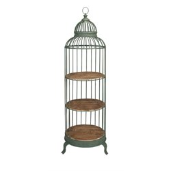 IMAX Corporation Charlotte Birdcage Storage Rack in Green