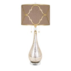 IMAX Corporation BF Westly Glass Table Lamp in Brown
