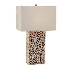 IMAX Corporation Cynder Wood Table Lamp in Beige