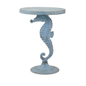 IMAX Corporation Windsor Sea Horse Pedestal Table in Teal