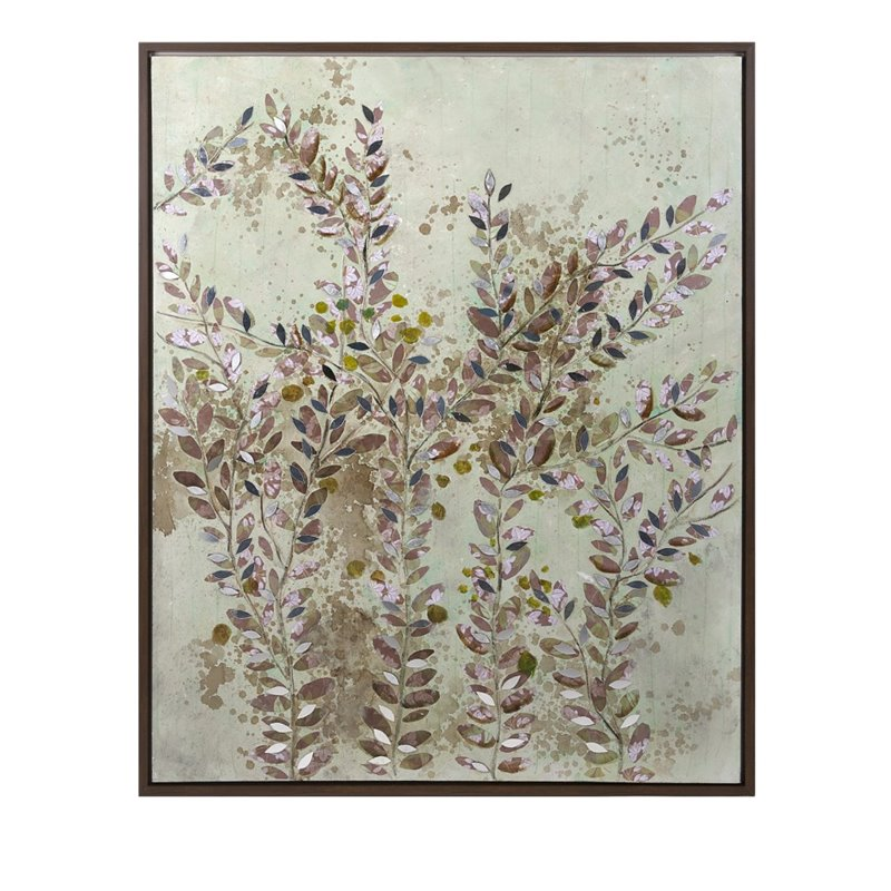IMAX Corporation Botanical Wisdom Framed Oil Painting in Beige