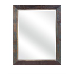 IMAX Corporation Carron Reclaimed Wood Decorative Mirror in Brown