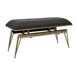 IMAX Corporation Don Metal Bench in Gray