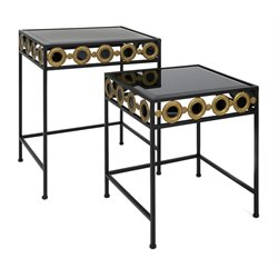 IMAX Corporation Concepts 2 Piece Eclipse Accent Table Set in Black