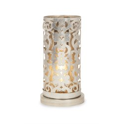 IMAX Corporation Landry Hurricane Table Lamp in Gold