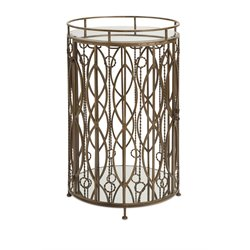 IMAX Corporation Verona Accent Table Bar in Gold