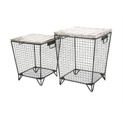 IMAX Corporation Ava 2 Piece Cage Table Set in Gray