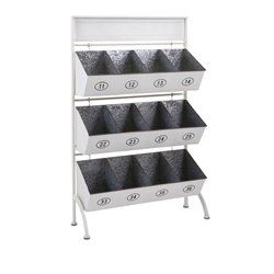 IMAX Corporation Tinker 12 Pocket Storage Rack in Gray