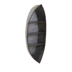 IMAX Corporation Nelson Galvanized Canoe Wall Display Shelf in Gray