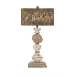IMAX Corporation Brook Wood and Metal Table Lamp in Brown