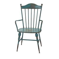 IMAX Corporation Westfield Metal Arm Chair in Teal