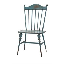 IMAX Corporation Westfield Metal Side Chair in Teal