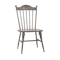 IMAX Corporation Chatham Metal Side Chair in Gray