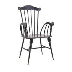 IMAX Corporation Trenton Metal Arm Chair in Black