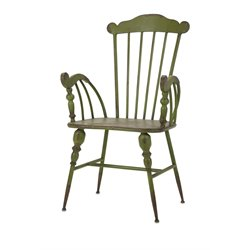 IMAX Corporation Trenton Metal Arm Chair in Green