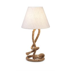 IMAX Corporation Admiral Rope Table Lamp in Beige