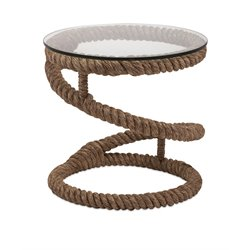 IMAX Corporation Bedford Jute Rope Accent Table in Brown